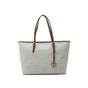 젯셋 트래블 미듐 토트백 MICHAEL Michael Kors Jet Set Travel Medium Top Zip Multifunctional Tote (30S7GTVT2B VANILLA)