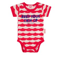 Multi scarlet wave baby short sleeve bodysuit / BP8216175