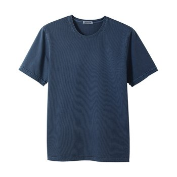 라이즈앤빌로우 7oz Supima 4ply Garment dyed Tee Grape blue