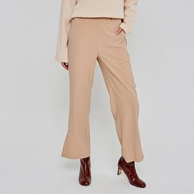 [DEANS] EMBO ST SLIT WIDE SLACKS_BEIGE