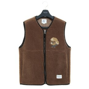 ILP HQ WAPPEN ECO-FUR VEST ZIP-UP CAMEL (3489639)