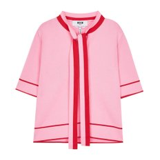 공식[MSGM] W_Double Cotton Short Sleeve Knit (PINK)