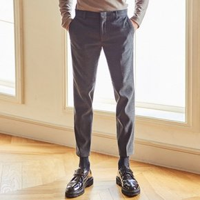 GLOWING WOOLEN ALKLE SLACKS (GRAY)