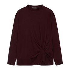 공식[NINA RICCI] W_WOOL KNOTTED KNIT PULL OVER (BURGUNDY)