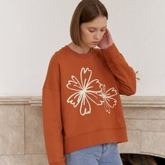[20%할인가][엽페]FLOWER PRINT SWEATSHIRTS_BROWN
