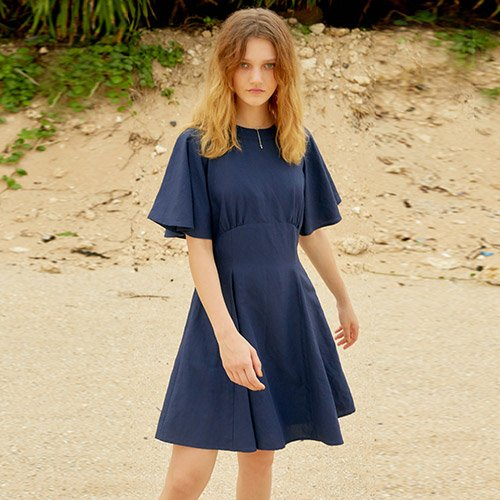 [레이브] Linen Flare One Piece (Navy)_VW8MO0270