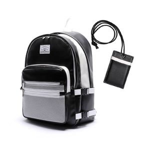 로디스 3D LEATHER BACKPACK BLACK WHITE