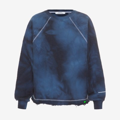 KSENIA SCHNAIDER 크세니아 슈나이더 TIE-DYE SWEATSHIRT BLUE KS1242FW19