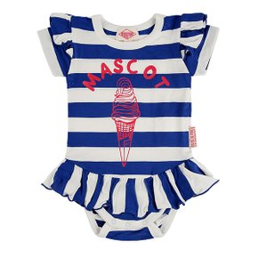 Mascot ice cream baby stripe ruffle bodysuit / BP8216222