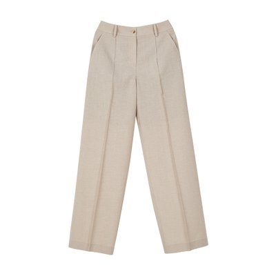 [레이브]Pintuck Stitched Pants in Beige_VW0SL1040