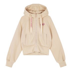 ♥SRTR01041♥S.A Semi-crop Hood zip-up_BEIGE