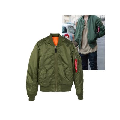 ALPHA INDUSTRIES MA-1 SLIM FIT MJM44530C1 SAGE