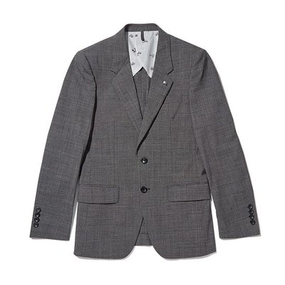 micro check suit jacket_CWFBM18436GYX