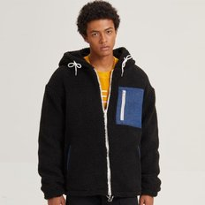 REVERSIBLE BOA PARKA_BLACK