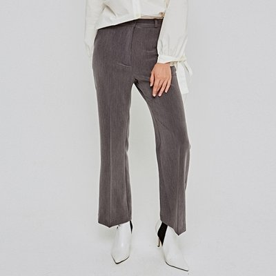 [DEANS] HIGH-WAIST BOOTCUT SLACKS_GRAY