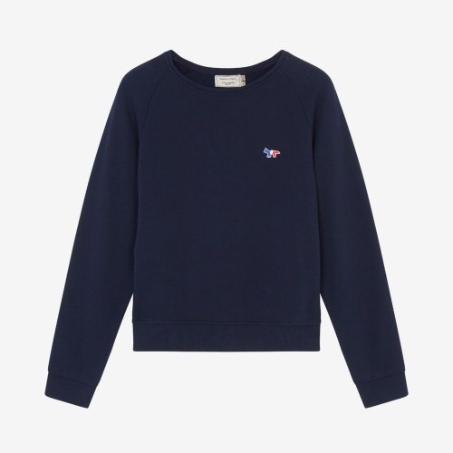 [PRE-ORDER] 20SS SWEATSHIRT TRICOLOR FOX PATCH NAVY WOMEN AW00302KM0002