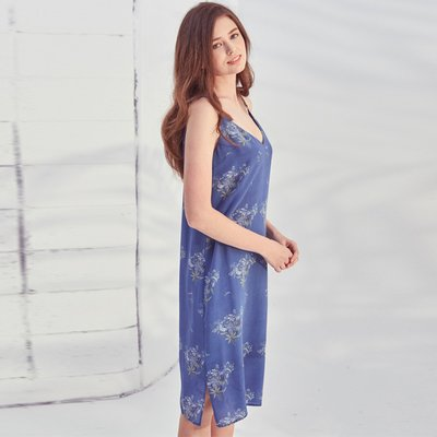VANESSA POLY DRESS IN WILD FLOWER PRINT
