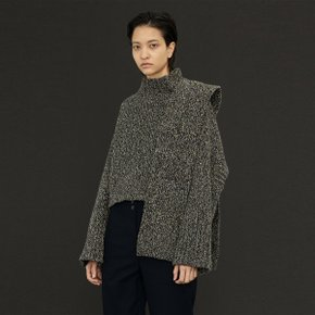 Lucia Shaded Knit & Muffler Set _Multi Navy