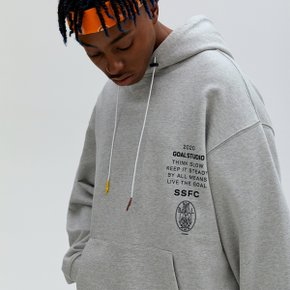 [골스튜디오] SSFC JERSEY HOODED SWEATSHIRT - GREY