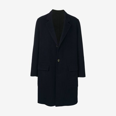 AMI 아미 THREE BUTTONS UNLINED COAT DARK NAVY H19M006255 / 410