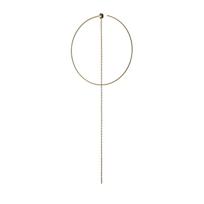 체르키오 옐로 이어링 체인, Cerchio Yellow Earring Chain(1pc),  10k, yellow gold