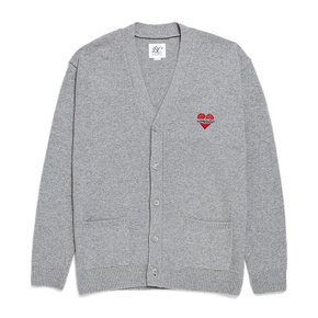NOMANTIC LOGO KNIT WOOL CARDIGAN GRAY (2709497)