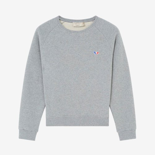 [PRE-ORDER] 20SS SWEATSHIRT TRICOLOR FOX PATCH GREY MELANGE WOMEN AW00302KM0002
