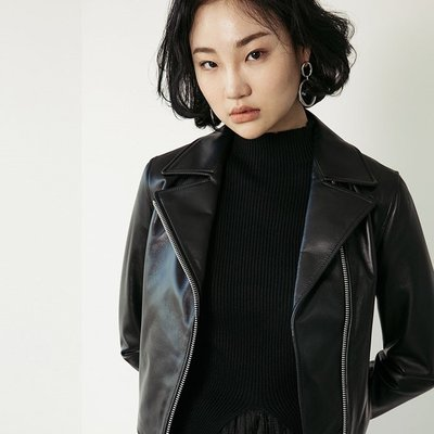 LAMB SKIN RIDER JACKET [BLACK] (2091761)