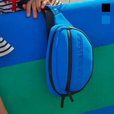[N.E.O] Round front zipper belt bag (2color)
