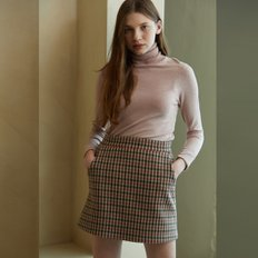 [룩캐스트][11/29예약배송] PINK GINGHAM CHECK WOOL MINI SKIRT (2964550)