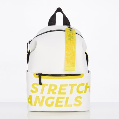 스트레치엔젤스[S.P.U] Pocket round backpack M (White)