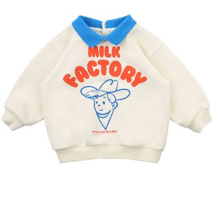 Milk factory baby collar sweatshirt