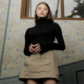 [와드로브] WAVE TURTLENECK T-SHIRT_BLACK (1941546)