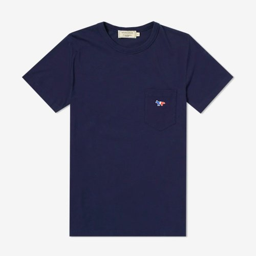 [PRE-ORDER] 20SS TEE-SHIRT TRICOLOR FOX PATCH NAVY MEN AM00102KJ0010