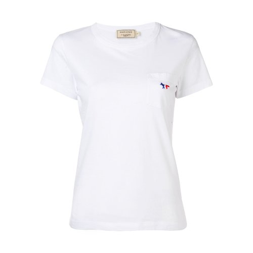 [PRE-ORDER] 20SS TEE-SHIRT TRICOLOR FOX PATCH WHITE WOMEN AW00102KJ0007
