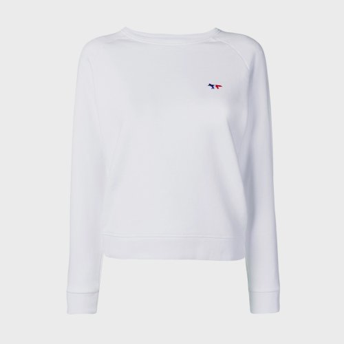 [PRE-ORDER] 20SS SWEATSHIRT TRICOLOR FOX PATCH WHITE WOMEN AW00302KM0002