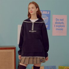 (TS-19722) FLEECE SAILOR ANORAK NAVY