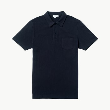 COTTON RIVIERA POLO SHIRT NAVY
