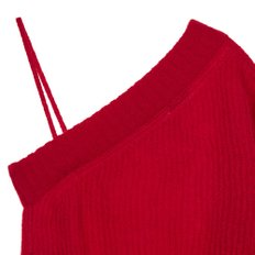 공식[NINA RICCI] W_MOHAIR ASYM SLEEVE KNIT (RED)