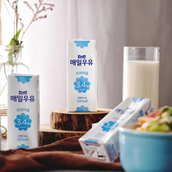[매일] 멸균 우유 (200ml*24개)