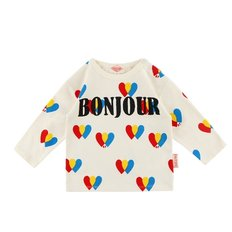 Multi heart baby long sleeve tee