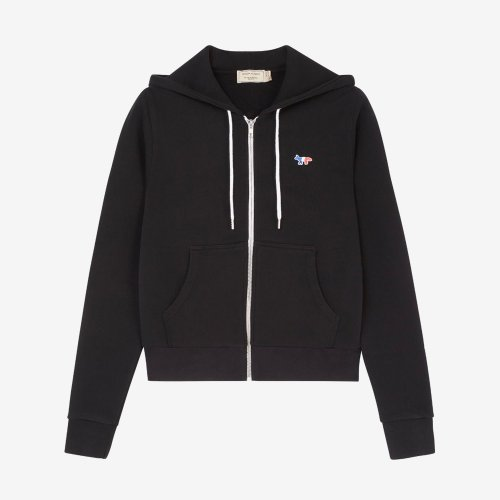 [PRE-ORDER] 20SS ZIP HOODIE TRICOLOR FOX PATCH BLACK WOMEN AW00304KM0001
