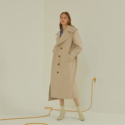[MUSEE]Lunette oversize collar trench coat _ Light beige (1941008)