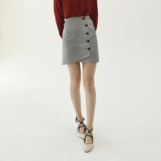 [30%할인적용가]round wrap skirt_black