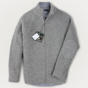 [FOREST CAMP]Lambswool Zip-Up Cardigan/램스울 집업 가디건/∼4XL[FCSW9403-Medium Grey]best quality