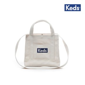 케즈 2WAY MINI TOTE BAG WHITE