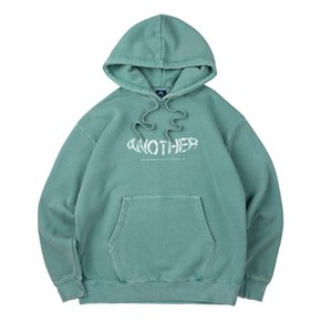 COVER STITCH PIGMENT HOODIE (GREEN)