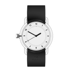 TID WATCHES 티아이디시계 No.3 TR90 White / Black Silicone 38mm