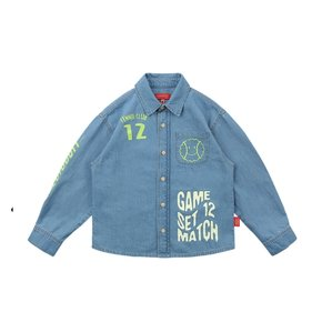 Icebiscuit graffiti-print denim shirt