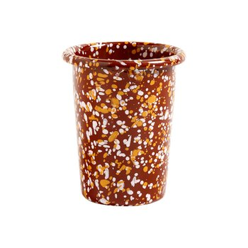 ENAMEL CUP SPRINKLE BROWN